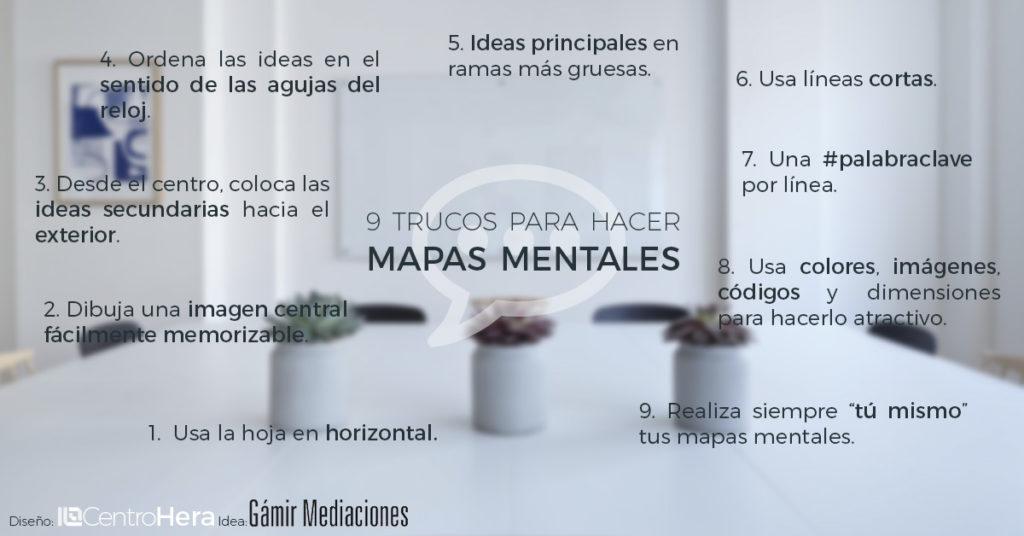 Cómo hacer mapas mentales eficaces